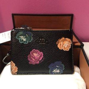 COACH Women's Skinny ID Wallet | Floral Rose Print